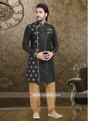 Black Full Sleeve Indo Western