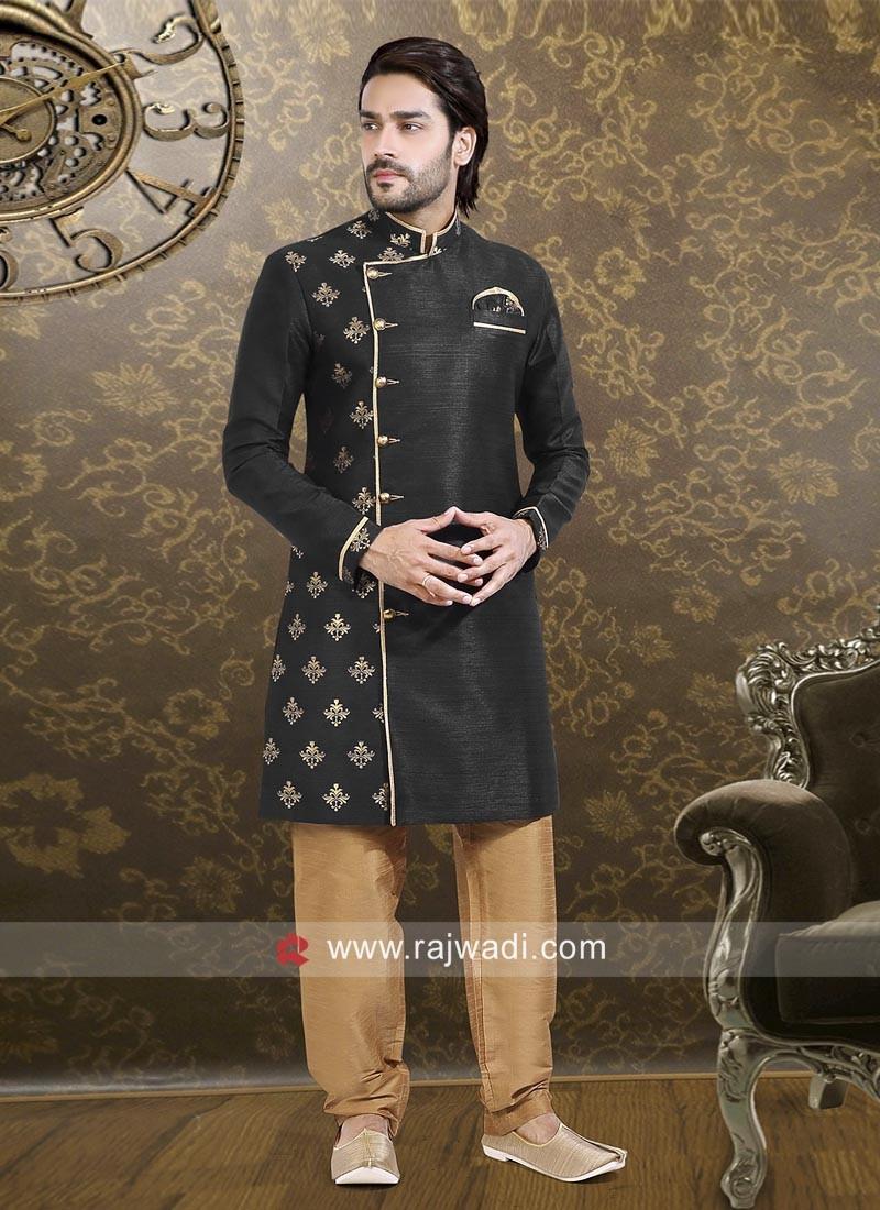Black Full Sleeve Indo Western