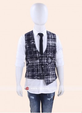 Stylish Printed Wedding Waist Coat