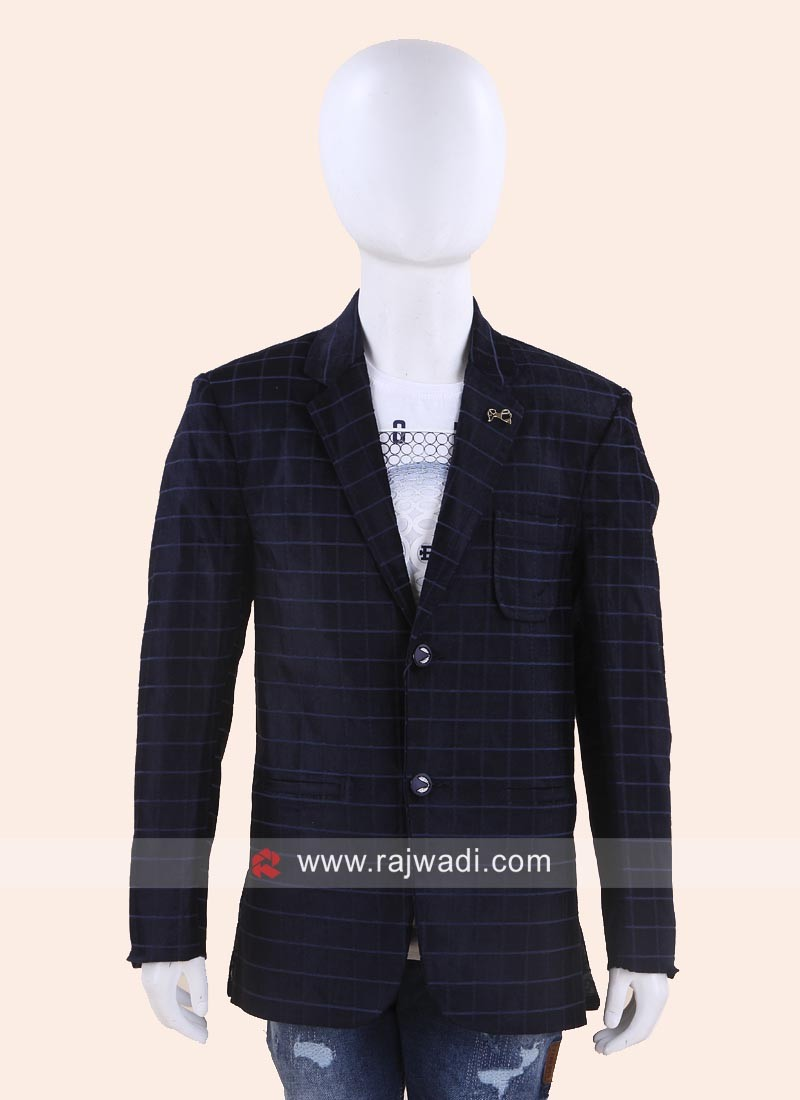 Stylish Blue Wedding Blazer