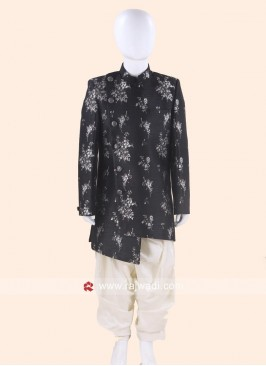 Art Silk Indo Western in Black