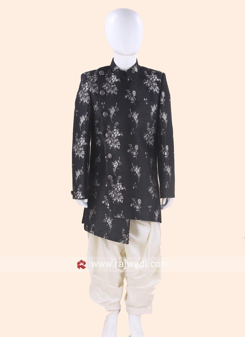 Art Silk Indo Western in Black