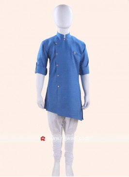 Charming Cotton Silk Blue Kurta