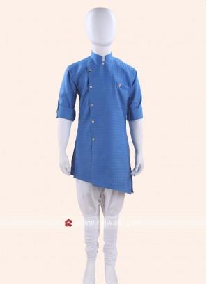 Charming Cotton Silk Blue Kurta