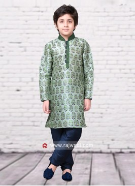 Olive Kurta Pajama for Kids