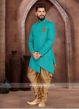 Attractive Dark Teal  Indo Western