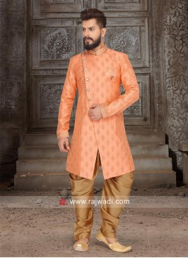 Stylish Peach Color Indo Western