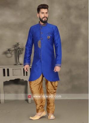 Wedding Wear Royal Blue Indo Western