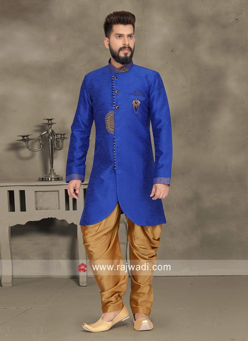 Wedding Wear Royal Blue Indo Western