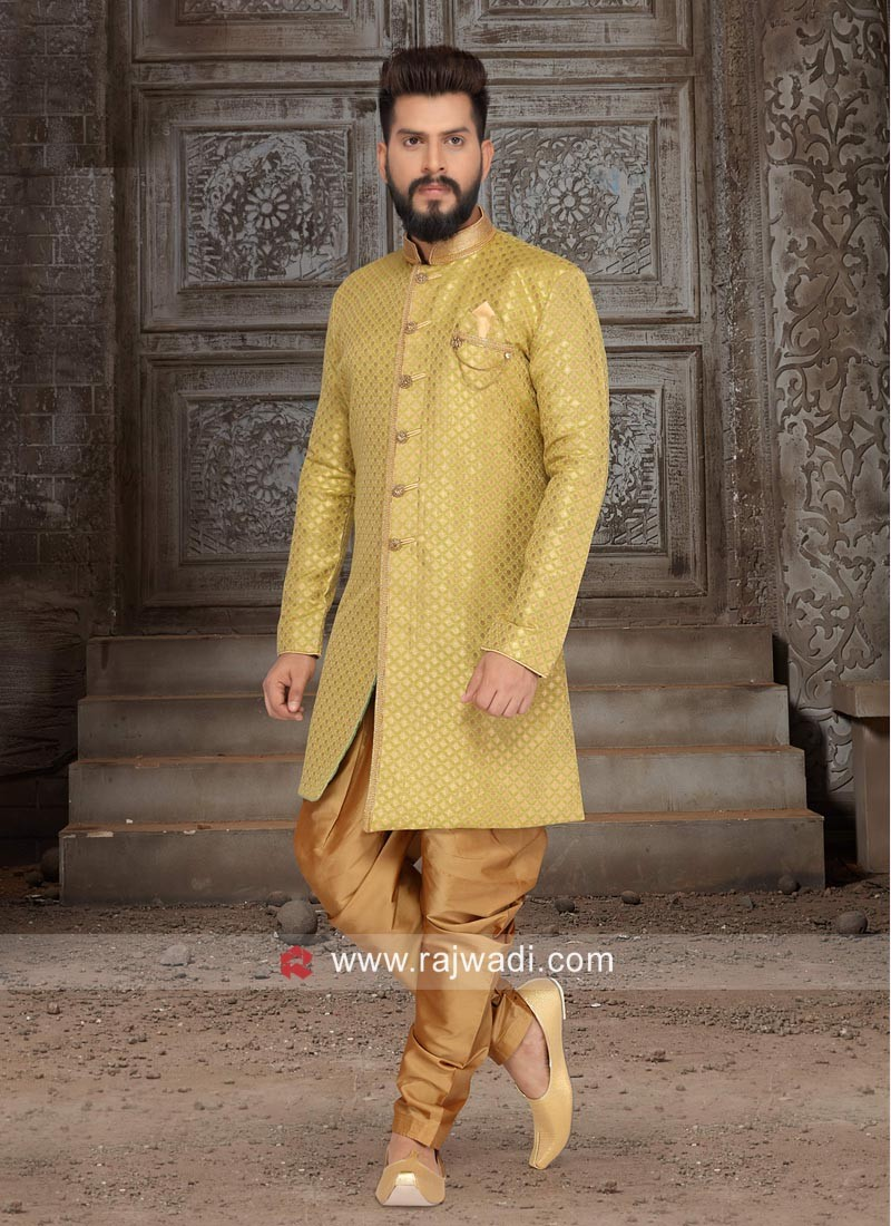 Marvelous Yellow Green Indo Western