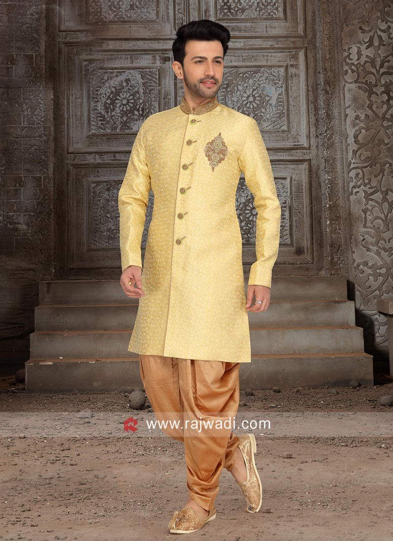 Marvelous Yellow Indo Western