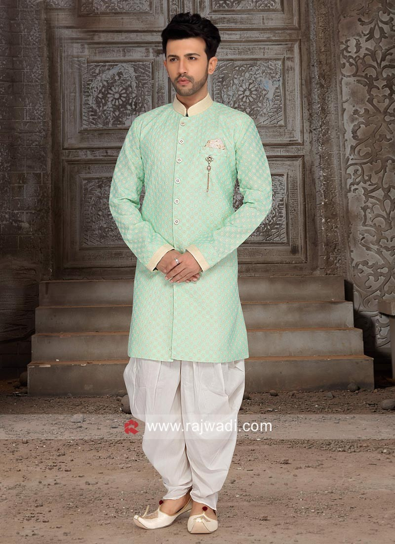 Stylish Brocade Silk Indo Western