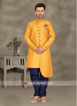 Attractive Mustard Yellow Indo Western