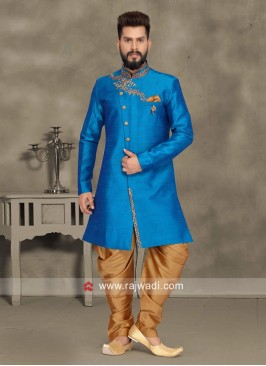 Royal Blue Color Indo Western