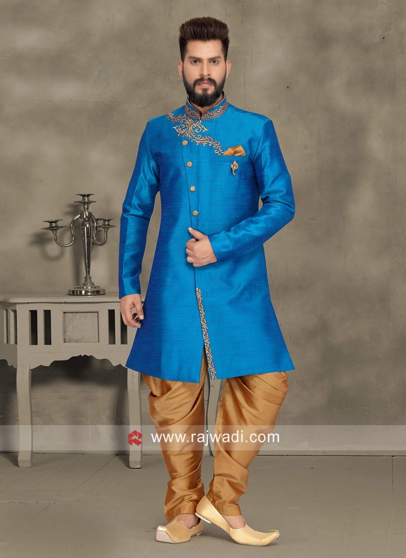 Royal Blue Color Indo Western