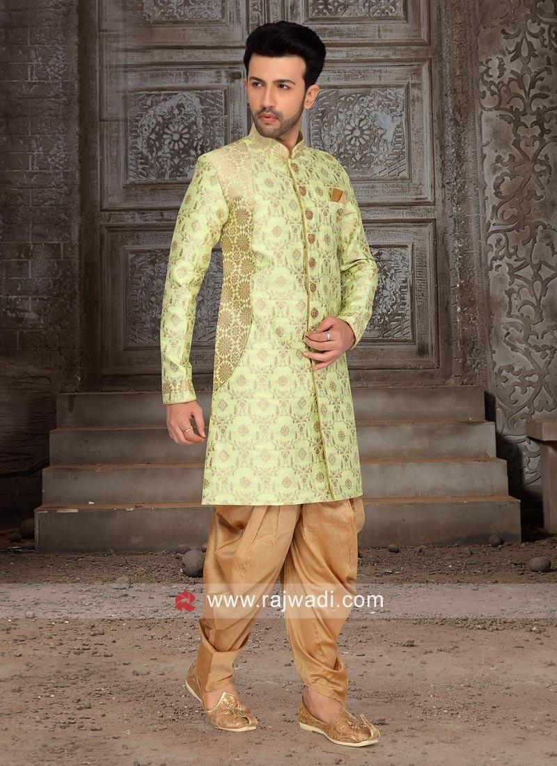 Pista Green Color Indo Western