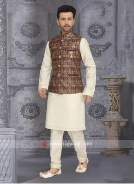 Dashing Look Cream Nehru Jacket