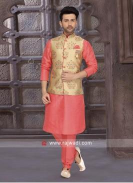 Orange Color Nehru Jacket
