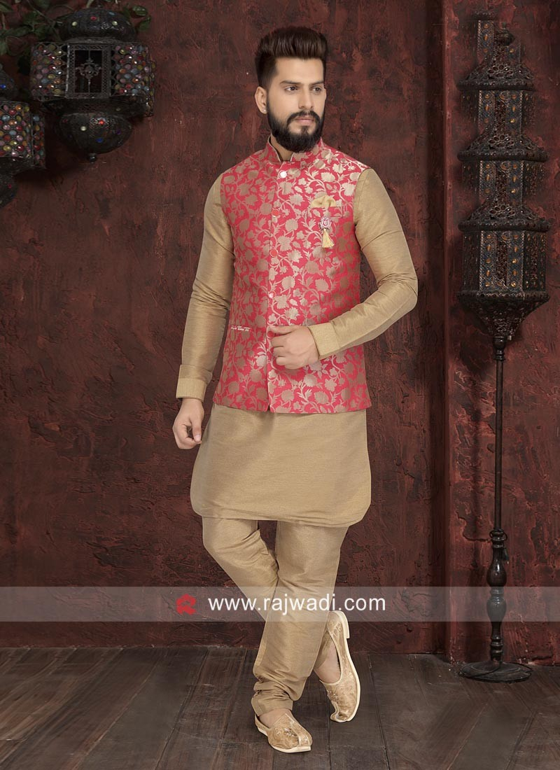 Stylish Golden Nehru Jacket