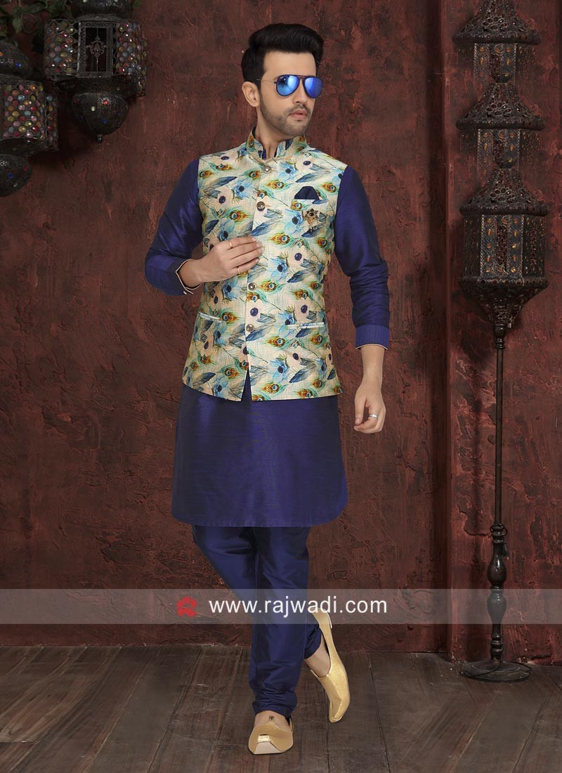 Charming Blue Nehru Jacket