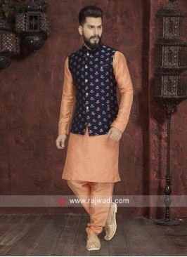 Light Orange Nehru Jacket
