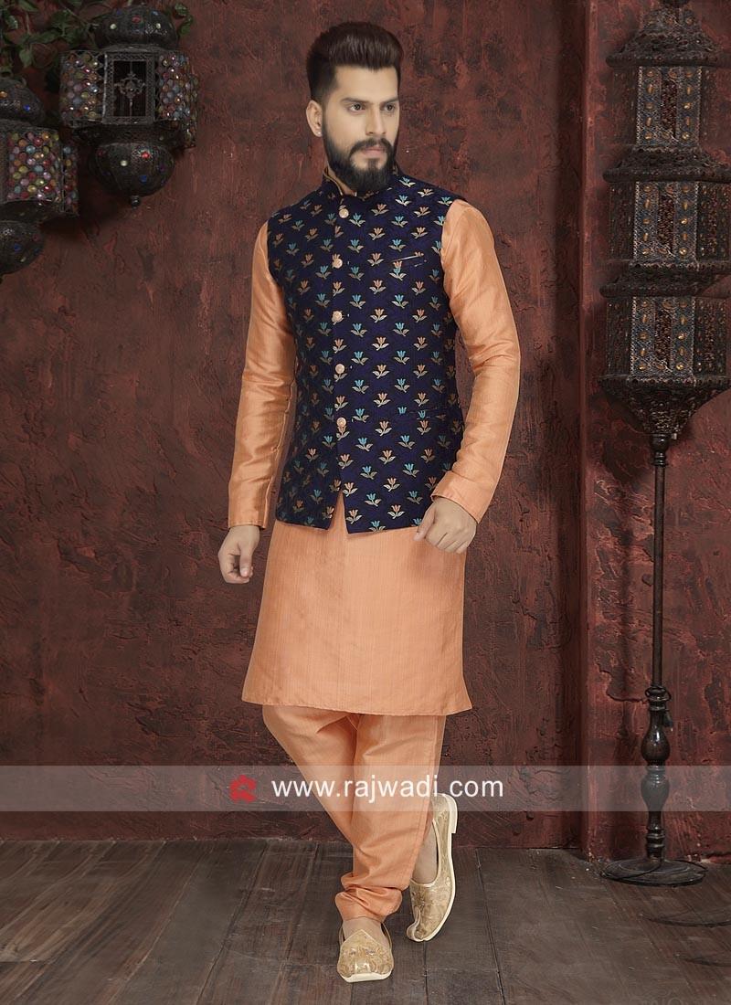 Light Orange Nehru Jacket