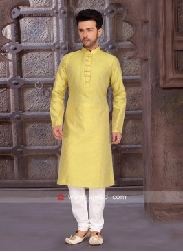 Light Yellow Color Kurta Pajama