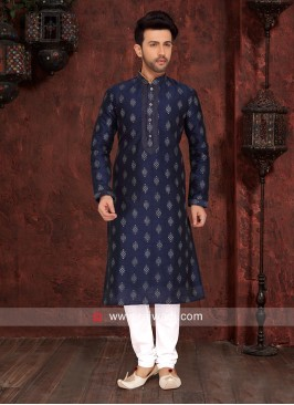 Navy Color Kurta Pajama