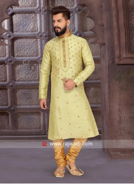Attractive Zari Work Kurta Pajama