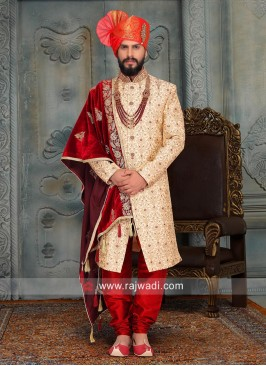 Wedding Art Silk Sherwani