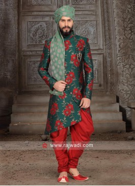 Stylish Brocade Silk Indo Western