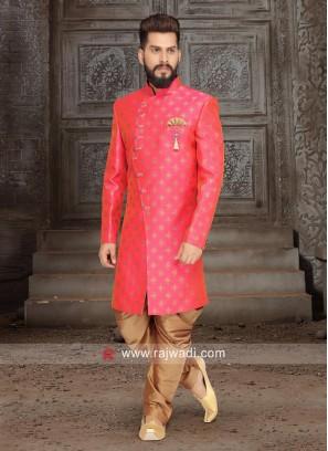 Brocade Silk Pink Indo Western