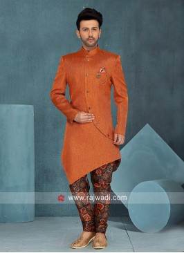 Orange Layered Indo Western