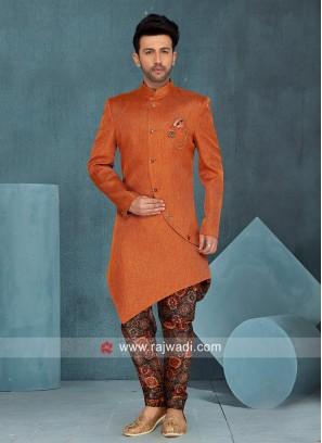Orange Layered Indo Western