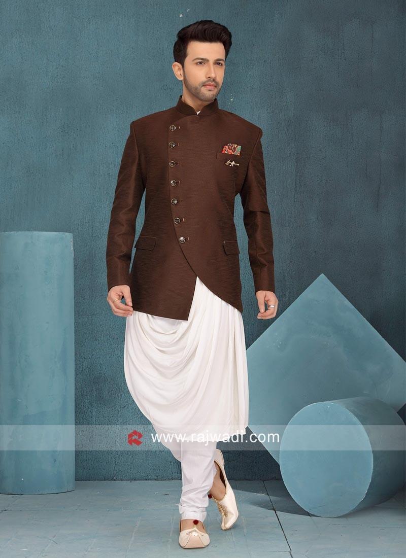 Brown Color Art Silk Indo Western