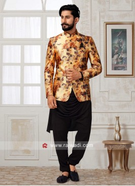 Golden and Black Color Indo Western
