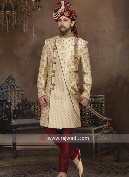Zardozi and Stone Work Sherwani