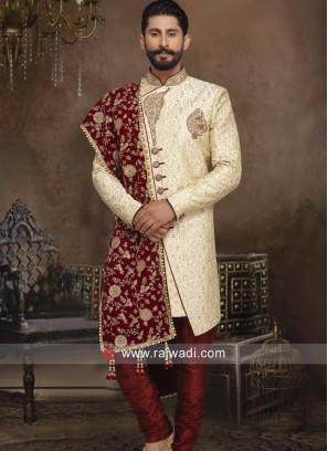 Designer Golden Sherwani