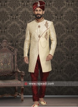 Wedding Wear Cream Sherwani