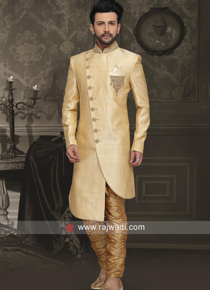 Art Silk Fabric Wedding Indo Western