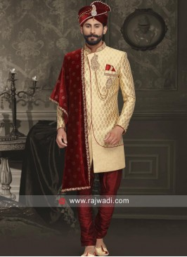 Stylish Golden Sherwani
