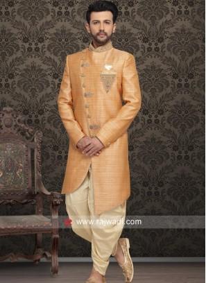 Designer Orange Color Indo Western