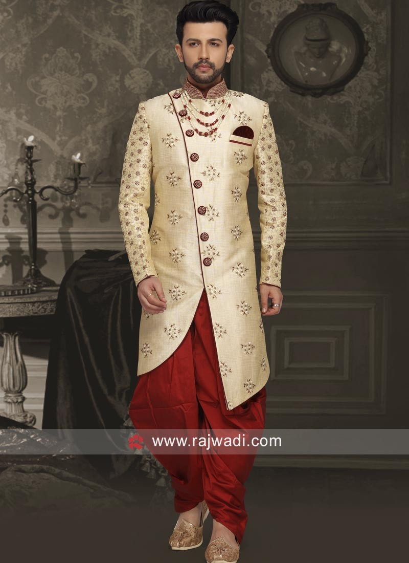 Stylish Art Silk Indo Western with Buttons