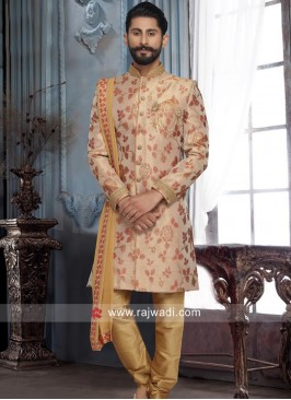 Brocade Silk Sherwani For Wedding