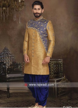 Golden Silk Indo Western For Wedding
