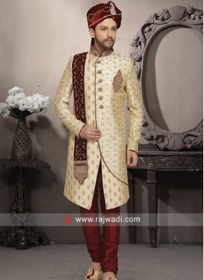 Wedding Wear Golden Sherwani