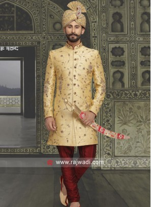 Traditional Golden Sherwani