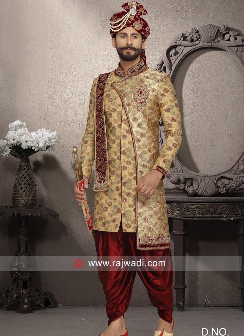 Designer Zardozi Work Sherwani