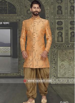 Marvelous Orange Color Indo Western