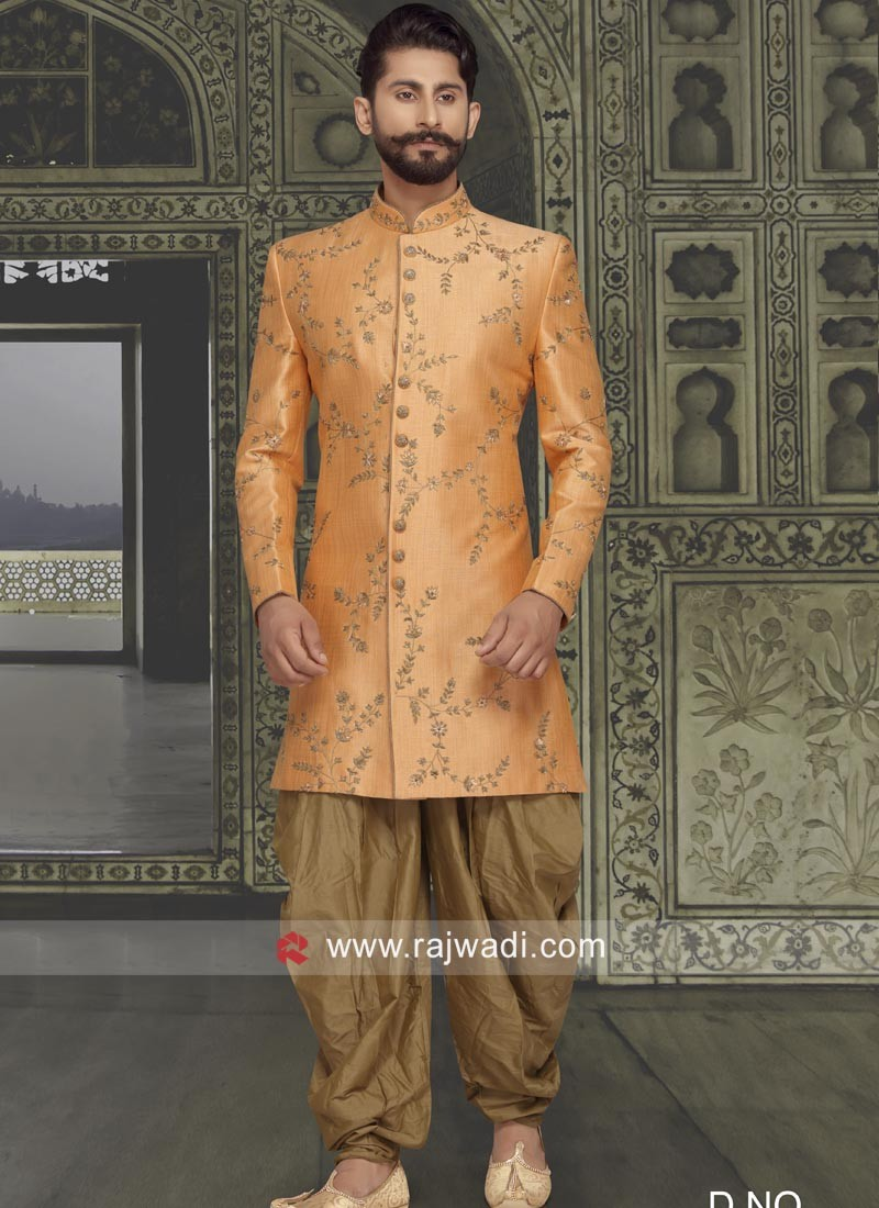 Marvelous Orange Color Indo Western